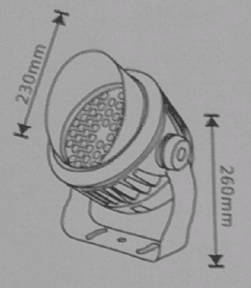 spotlight1 - Aluminium DC24V Power Flood Light (5400 lumens)