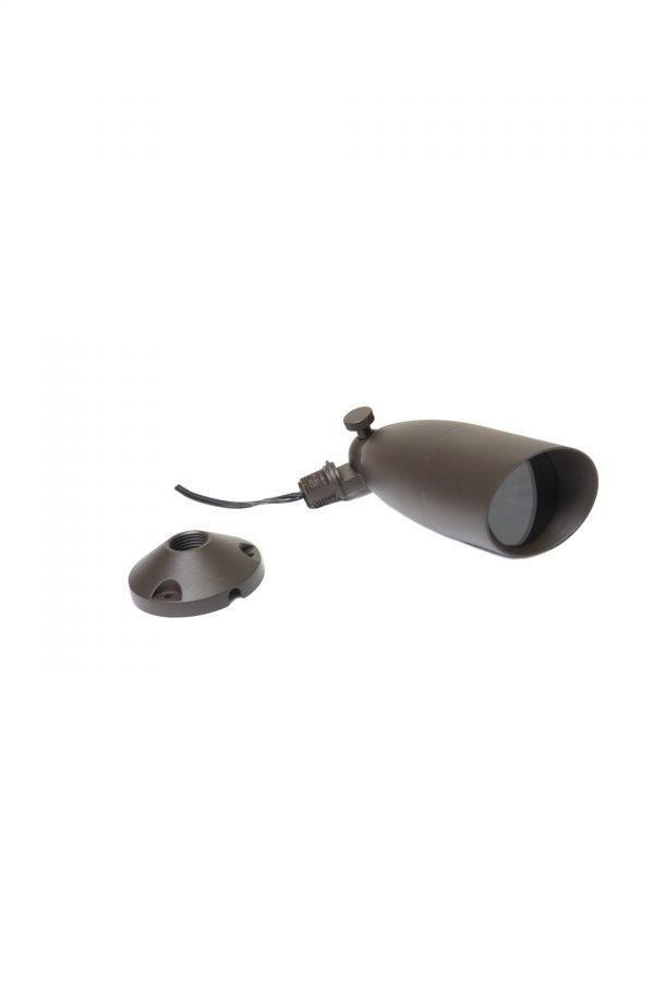 DSC0555 600x900 - Aluminium (Bronze finish) Spike Spot Up Light (12V) with tree / wall mount