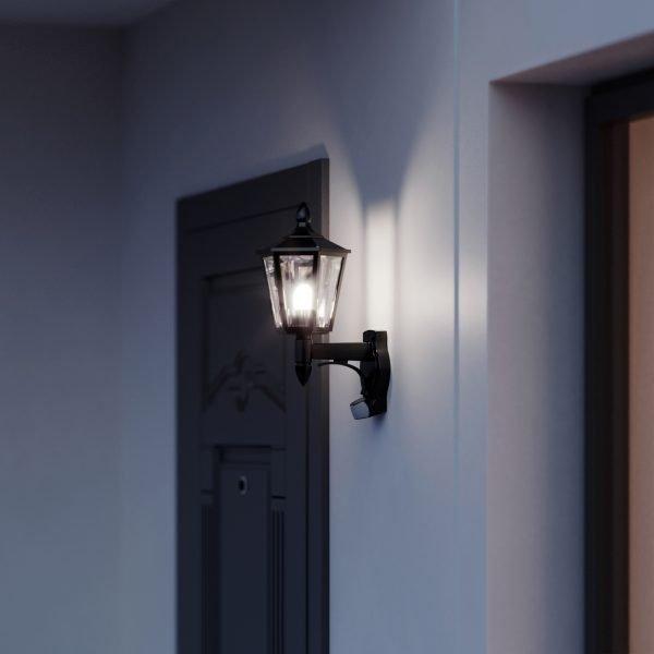 4007841617813 OUTDOOR SENSOR LIGHT L 15 BLACK 1 600x600 - Steinel L 15 LED Sensor Switched Outdoor Light (White)