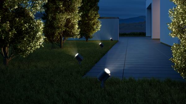 FLOOD LIGHT SPOT GARDEN S CONNECT ANT 1 600x338 - Steinel Spot Garden Sensor Connect LED Floodlight