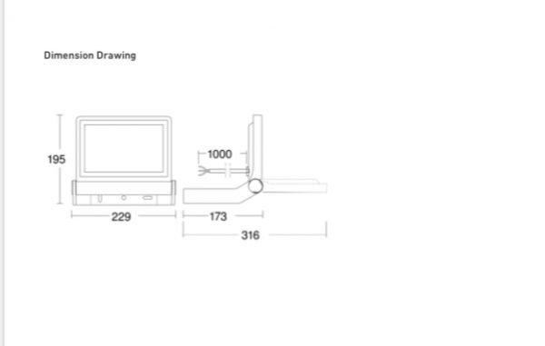 IMG 0737 600x381 - Steinel XLED One Sensor Floodlight