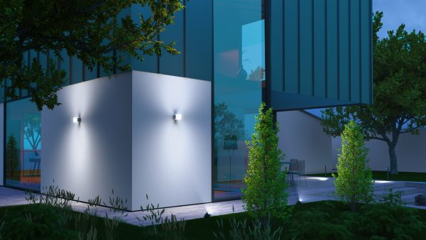 OUTDOOR SENSOR LIGHT L 835 LED IHF SI 1 600x338 - Steinel L 835 LED iHF Sensor Switched Outdoor Light (Silver finish)