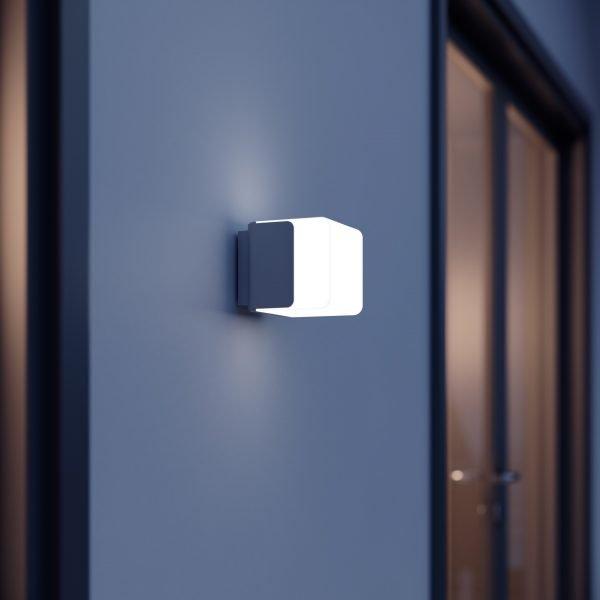 OUTDOOR SENSOR LIGHT L 835 LED IHF SI 2 600x600 - Steinel L 835 LED iHF Sensor Switched Outdoor Light (Silver finish)