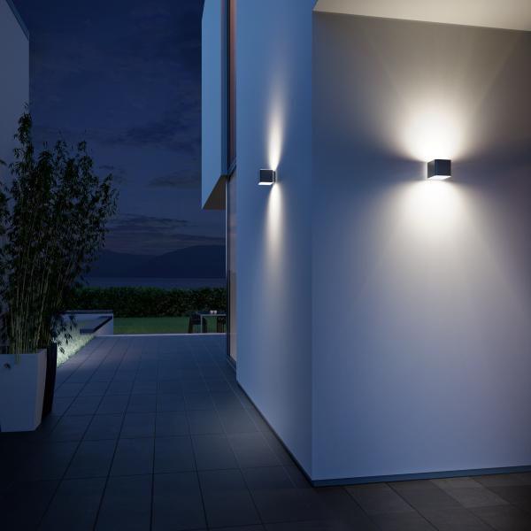 OUTDOOR SENSOR LIGHT L 840 LED IHF ANT 1 600x600 - Steinel L 840 LED iHF Sensor Switched Outdoor Light (Silver finish)