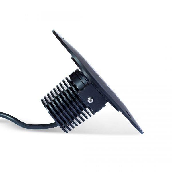 PR2 0128 RT 1080 SQ 600x600 - Black Recessed Light 12v (540 lumens)
