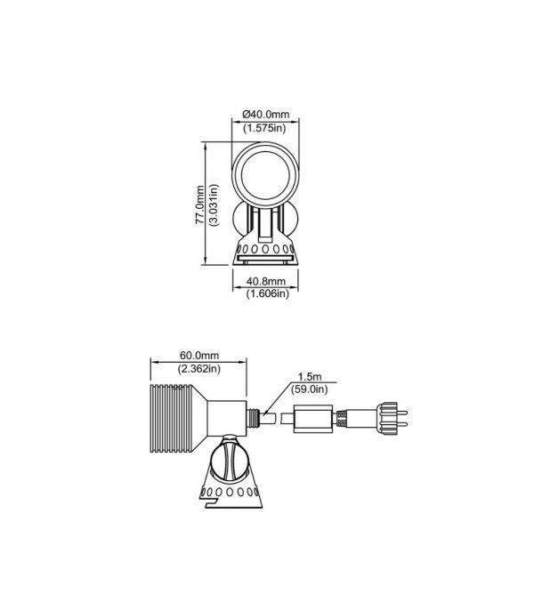 image15 600x686 - Plug and Play - 4w Brass Garden LED Spike Spot Light - 6 Lights (400 lumens each)