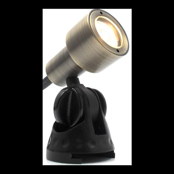 51BBAEAC 6594 45FE AA90 8E56AEF11C06 600x600 - Antique Brass Garden LED Spike Spot Light with spike 12v (190 lumens)