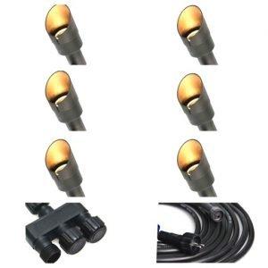 6612EDF6 FEF3 4F85 B47B C5E676F7C972 300x300 - Plug and Play - 2w Brass Garden LED Spike Spot Light - 6 Lights (190 lumens each)
