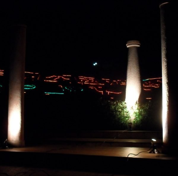 B49F21AB E851 43AD B0F4 BD67A2F90992 600x591 - Antique Brass Garden LED Spike Spot Light with spike 12v (1200 lumens)