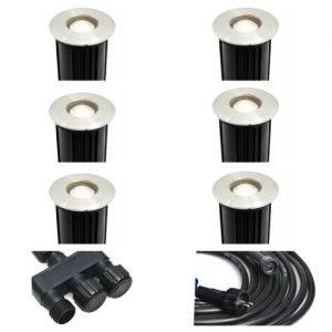 BFAD36A8 5850 4D3F A76B 85471D4E44C6 300x300 - Plug and Play - Stainless Steel Recessed Uplights - 6 Lights (240 lumens each)