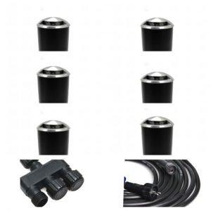 6FC38B52 B1C8 4146 AB6F 28468850DBCE 300x300 - Plug and Play - Stainless Steel Recessed Side Light - 6 Lights (90 lumens each)