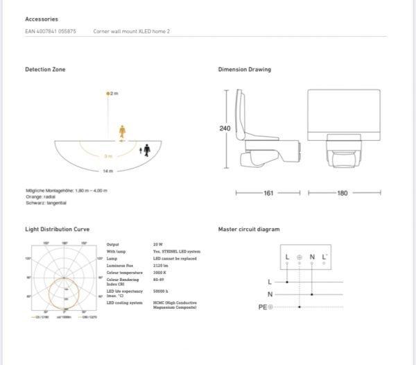 3F0E3CFC C8A6 4FCC 960F 80517FF03B06 600x526 - XLED Home 2 XL Sensor Switched LED Floodlight (Black)
